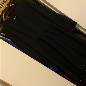 Vintage black midi dress